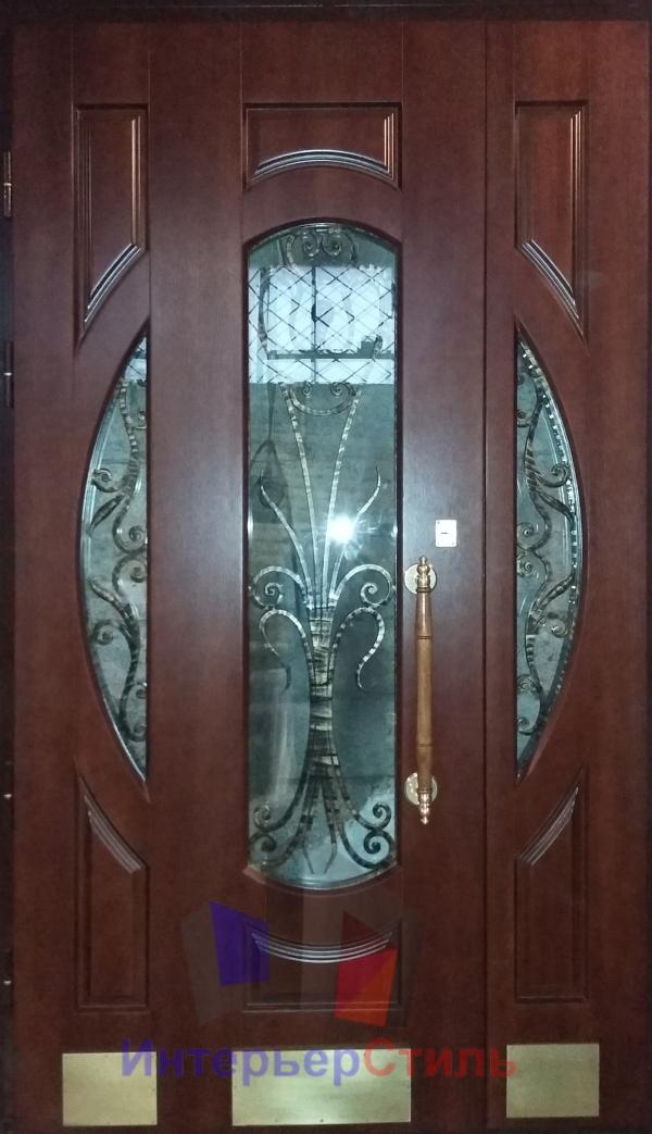 элитные металлические двери в коттеджном