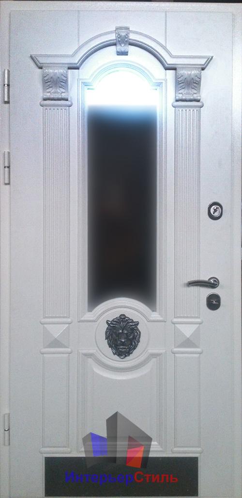 ковка для металлических дверей со стеклопакетом