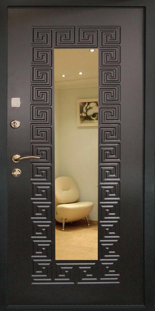 дешевые входные двери с зеркалом внутри